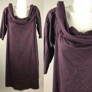 eShakti Long Sleeve Cowl Neck Dress Size 22W NWOT